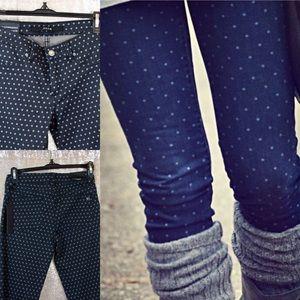 Girls' Skinny Polka Dot Jeans Slim Fit Jeggings